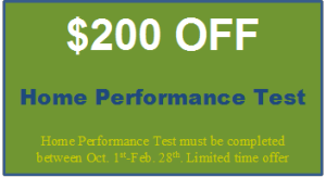 $200 Off Home Performance Test